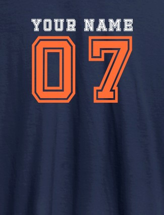 Printed Mens T Shirt Design With Your Name Navy Blue Color