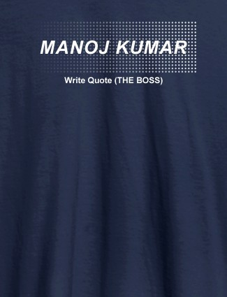 Personalised Unique Mens T Shirt With Name Navy Blue Color