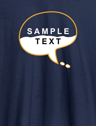 Personalised Unique Mens T Shirt Design With Name Navy Blue Color