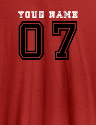 Printed Mens T Shirt Design With Your Name Red Color