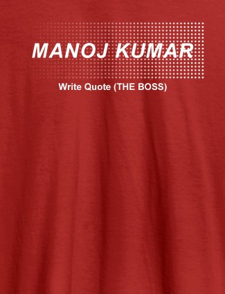 Personalised Unique Mens T Shirt With Name Red Color