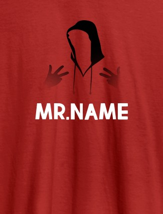 Add Your Own Text, Font - Custom T-Shirts for Men Red Color