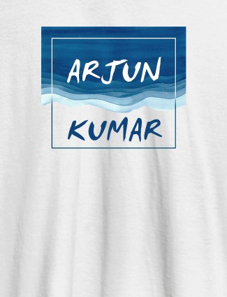 Watercolor Design With Name Personalised Mens T Shirt White Color