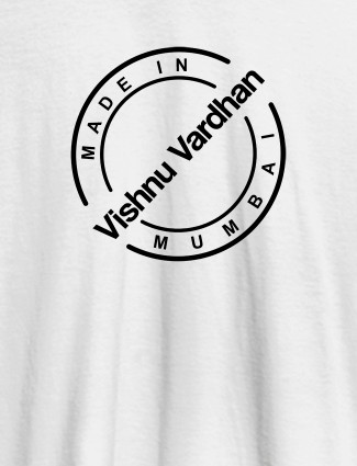 Funny Unique Personalised Mens Printed T Shirt White Color