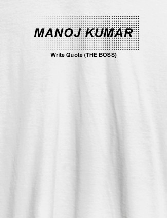 Personalised Unique Mens T Shirt With Name White Color