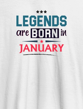 Kings Are Born In Month Personalised Printed Mens T Shirt White Color