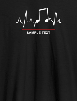 Musical Note Frequency Womens Personalised T Shirt Black Color