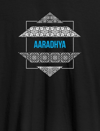Personalised Womens Tee Shirt Traditional Design Black Color