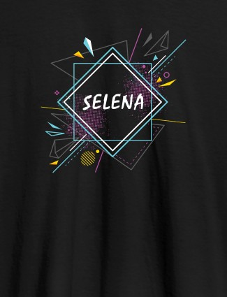 Personalised Womens Tshirt With Unique Art Black Color