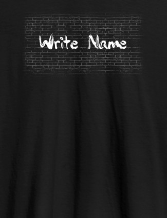 Graffiti Brick Wall T Shirt With Name Womens Fashion Wear Black Color
