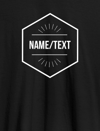 Simple Design with Name On Black Color Personalized Women Tees