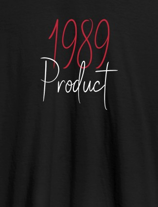 Established on Year On Black Color Personalized Women Tshirt