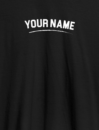 Signature Theme with Your Name On Black Color Customized Women Tees