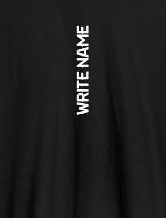 Vertical Name On Black Color Personalized T-Shirt for Women