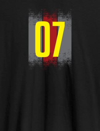 Your Favorite Number On Black Color Customized Women T-Shirt