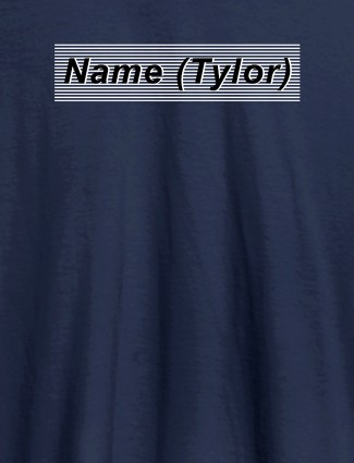 Personalised Unique Womens T Shirt With Name Navy Blue Color