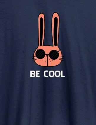 Be Cool Personalised Womens T Shirt Navy Blue Color