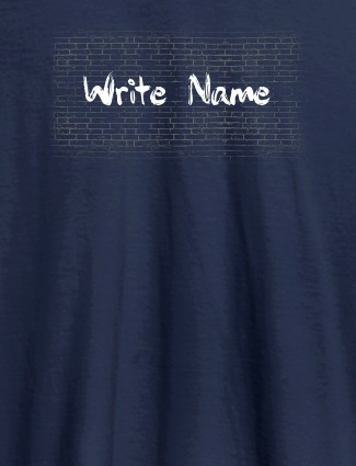 Graffiti Brick Wall T Shirt With Name Womens Fashion Wear Navy Blue Color