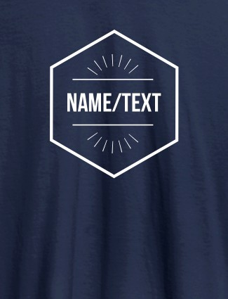 Simple Design with Name On Navy Blue Color Personalized Women Tees