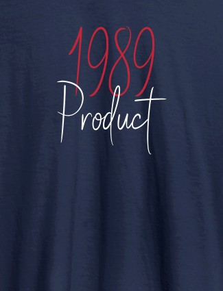 Established on Year On Navy Blue Color Personalized Women Tshirt