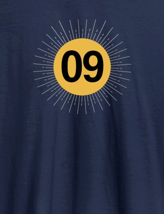 Your Lucky Number with Design On Navy Blue Color Women T Shirts with Name, Text, and Photo