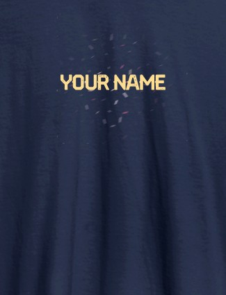 Blast Design with Your Name On Navy Blue Color Customized Womens T-Shirt