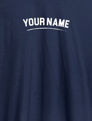 Signature Theme with Your Name On Navy Blue Color Customized Women Tees