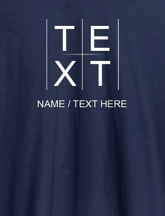 Write Your Name and Text On Navy Blue Color T-shirts For Women with Name, Text and Photo