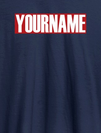 YourName On Navy Blue Color Personalized Women Tees