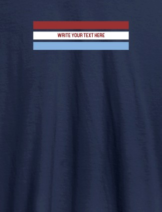 Write Quote with Your Name On Navy Blue Color Women T Shirts with Name, Text, and Photo