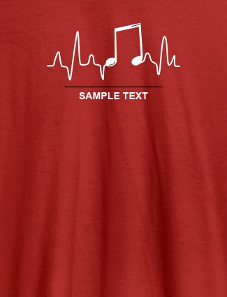 Musical Note Frequency Womens Personalised T Shirt Red Color