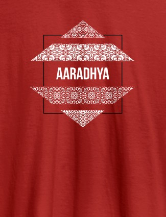 Personalised Womens Tee Shirt Traditional Design Red Color