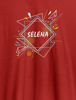 Personalised Womens Tshirt With Unique Art Red Color