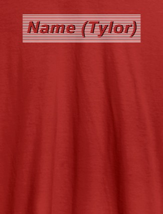 Personalised Unique Womens T Shirt With Name Red Color