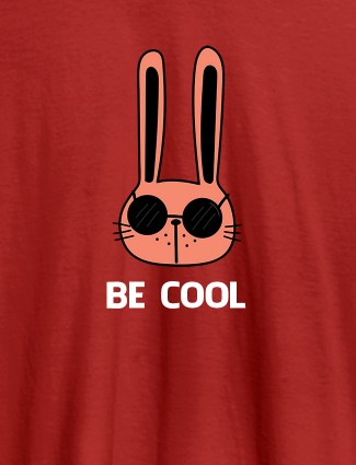 Be Cool Personalised Womens T Shirt Red Color