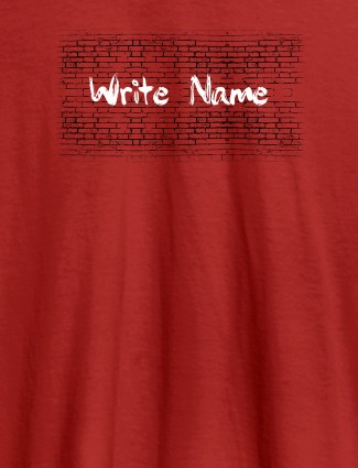 Graffiti Brick Wall T Shirt With Name Womens Fashion Wear Red Color