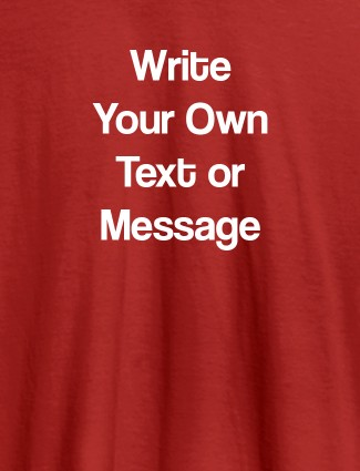 Pocket Text On Red Color Customized Women T-Shirt