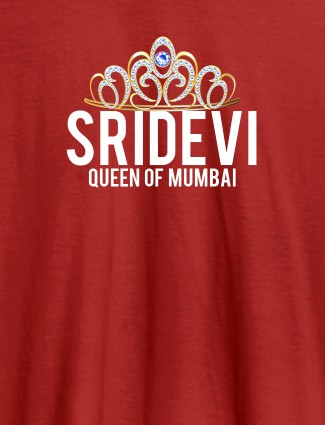 Queen of City Name and Text On Red Color Women T Shirts with Name, Text, and Photo