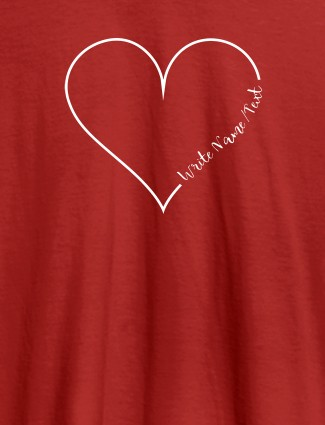 Your Name in Love Shape On Red Color Customized Women T-Shirt
