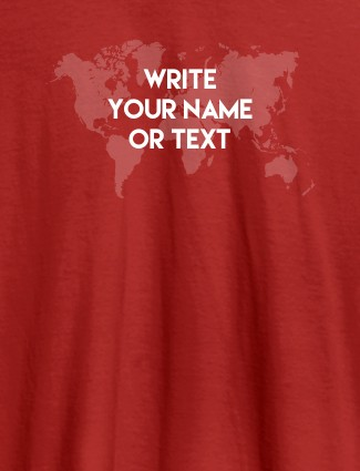 Wite Your Name On Red Color Customized Tshirt for Women