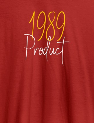 Established on Year On Red Color Personalized Women Tshirt
