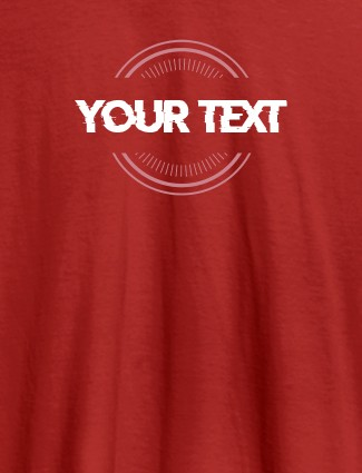 Stamp Theme with Your Name On Red Color Women T Shirts with Name, Text, and Photo