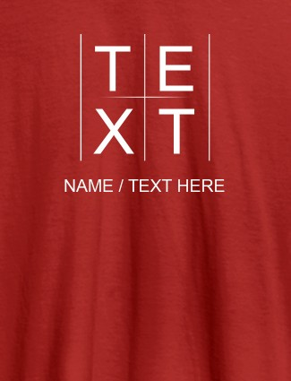 Write Your Name and Text On Red Color T-shirts For Women with Name, Text and Photo