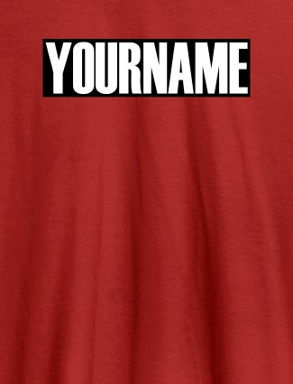 YourName On Red Color Personalized Women Tees