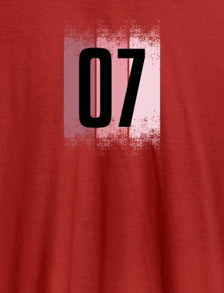 Your Favorite Number On Red Color Customized Women T-Shirt