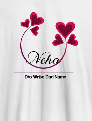Personalised Womens T Shirt With Your Dad Name White Color