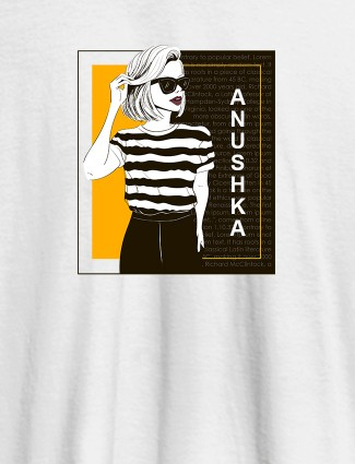 Personalised Womens T Shirt Latest Fashion Trends With Name White Color