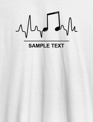 Musical Note Frequency Womens Personalised T Shirt White Color