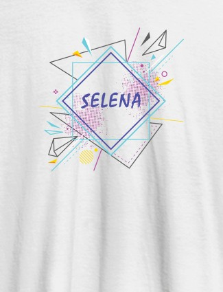 Personalised Womens Tshirt With Unique Art White Color