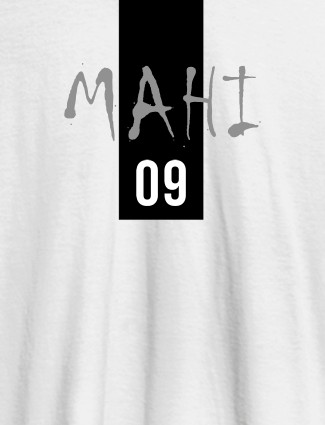 Personalised Women T Shirt With Name Number 09 Printed White Color